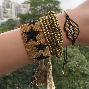 Tassel Bracelet Kit Gold band stars ✨ Santo Pecado